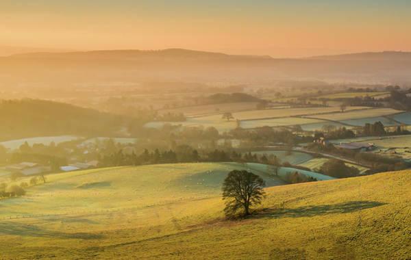Church Stretton Photograph - Hope Bowdler Winter Landscape by Nigel Forster