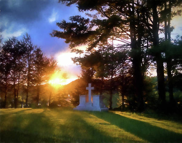 Photograph - Hope In Time Of Sorrow Sunset Cross by Denise Beverly
