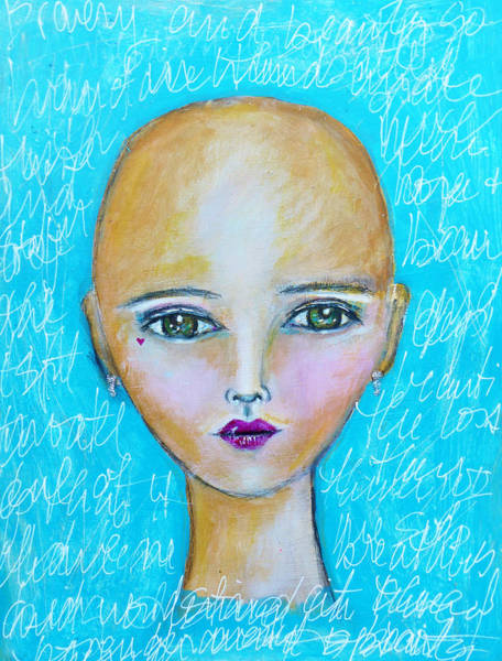Bald Mixed Media - Hope by Lynn Colwell