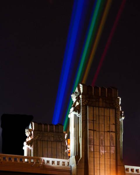 Photograph - Hope Memorial Bridge, Aha Lights by Stewart Helberg