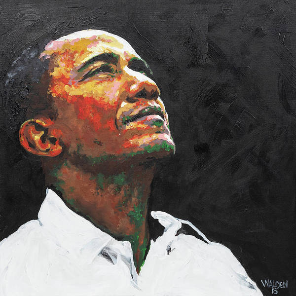 Obama Painting - Hope by Rochelle Walden