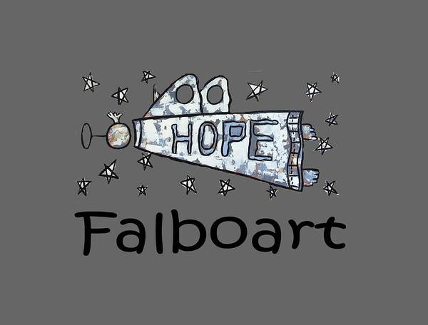 Wall Art - Painting - Hope T-shirt by Anthony Falbo