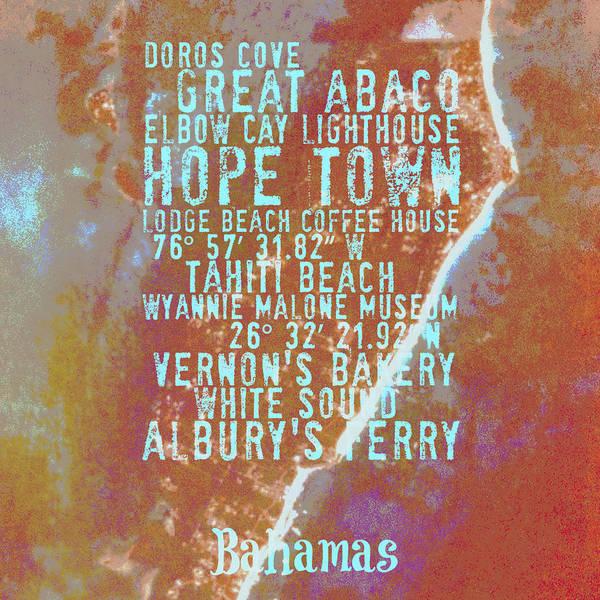 Town Square Digital Art - Hope Town Bahamas Life by Brandi Fitzgerald