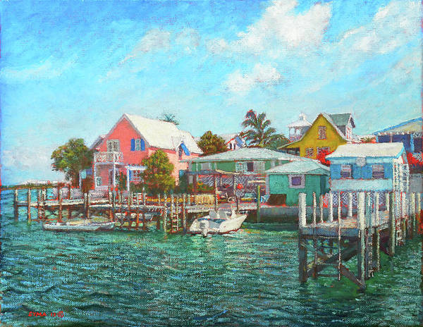 Painting - Hope Town By The Sea by Ritchie Eyma