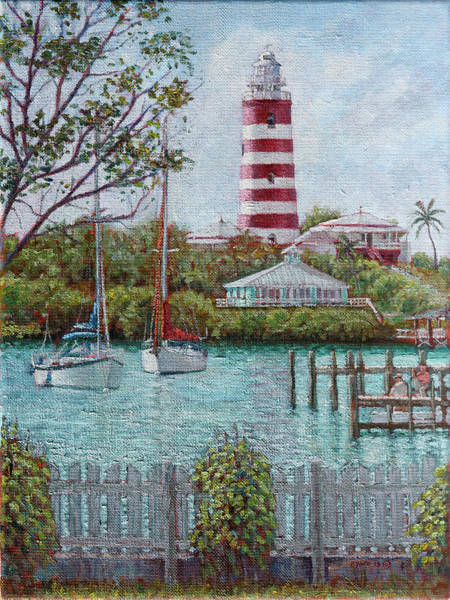 Painting - Hope Town Lighthouse by Ritchie Eyma