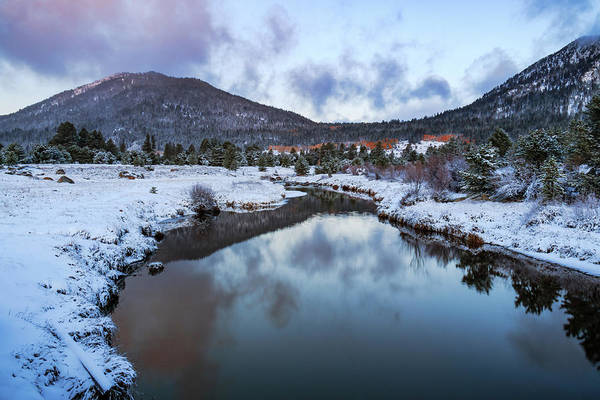 Lightroom Photograph - Hope Valley Snowy Autumn Morning by Mike Herron