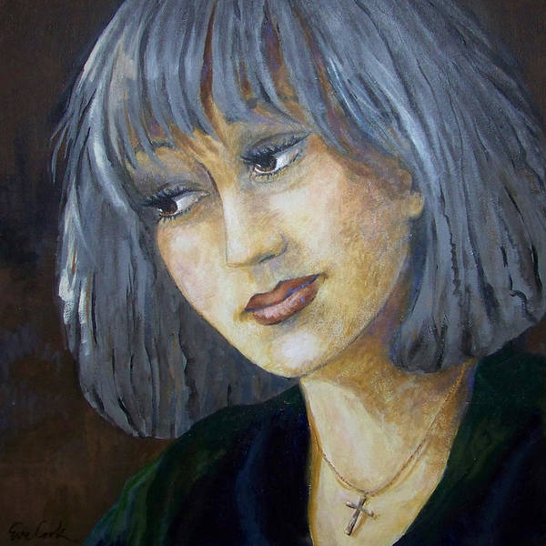 Pensive Painting - Hopeful Eyes by Evie Cook