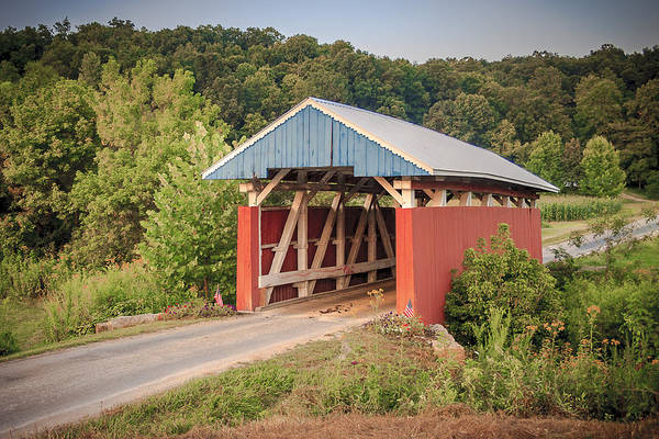 Photograph - Hopewell Church Covered Bridge by Jack R Perry