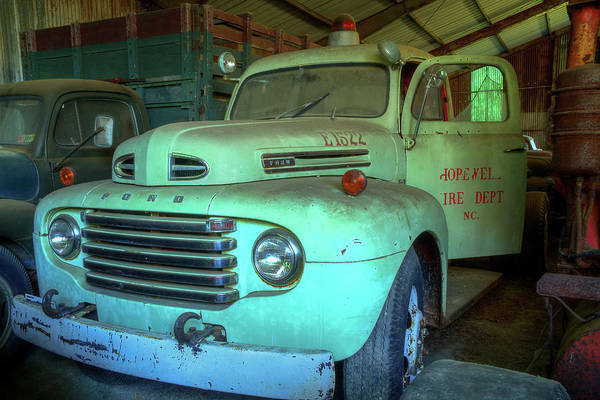 Photograph - Hopewell Fire Truck by Jerry Gammon