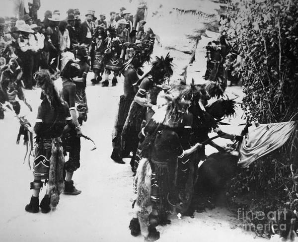 Photograph - Hopi Snake Priests 1903 by Granger