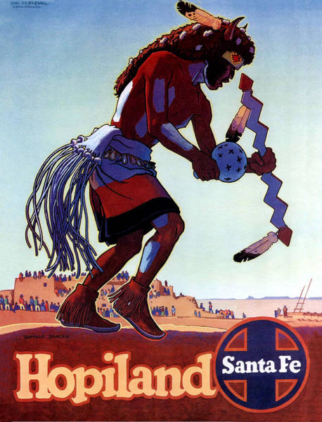 Native American Culture Painting - Hopiland, Santa Fe by Long Shot