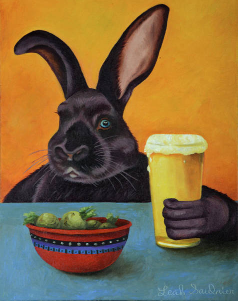 Painting - Hoppy Hour by Leah Saulnier The Painting Maniac