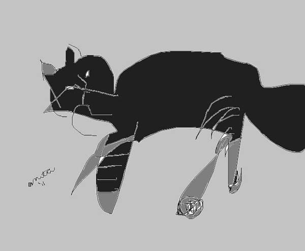 Tabby Drawing - Horatio Tobias Greyscale by Anita Dale Livaditis
