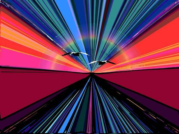 Fate Digital Art - Horizon Highway by Tim Allen