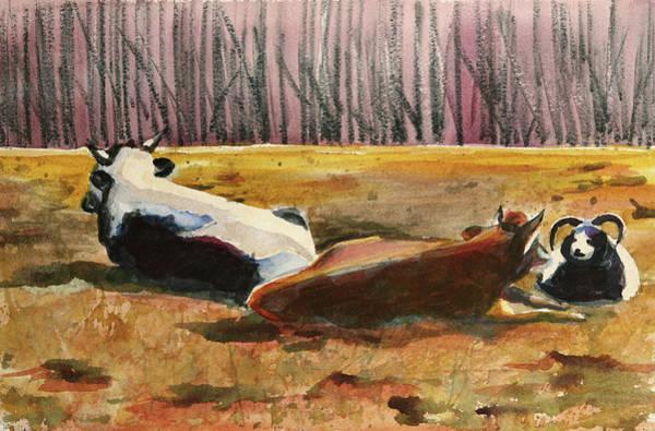 Painting - Horizon Livestock by Trina Teele
