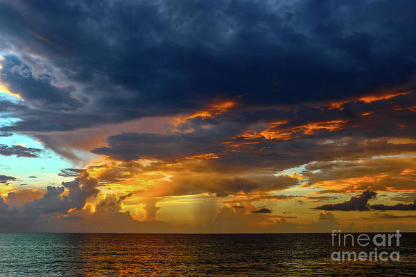 Photograph - Horizon Rain And Fiery Sky by Tom Claud