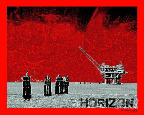Digital Art - Horizon Tee by Lizi Beard-Ward