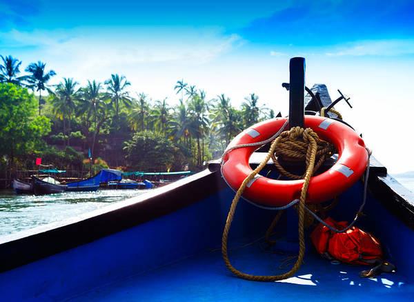 Treen Photograph - Horizontal Vivid Indian Boat Life Preserver by Nickolay Loginov