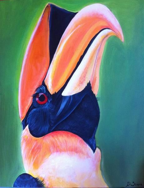 Hornbill Painting - Hornbill by Danielle Sciara