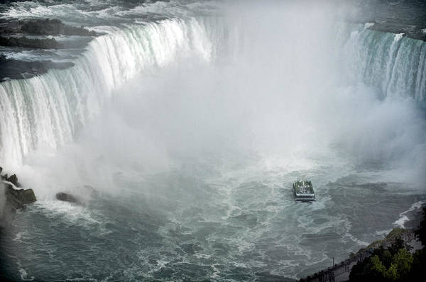 Photograph - Hornblower Ferry At Horseshoe Falls by Ginger Wakem