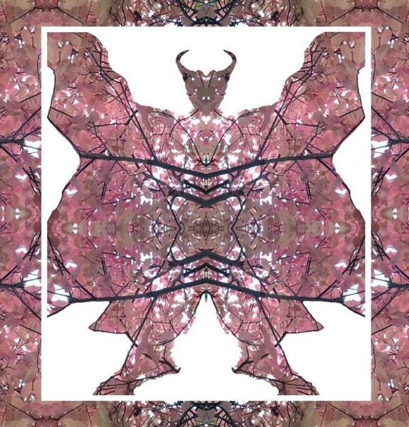 Photograph - Horned, Winged, Hoofed, Man 1 Leaf Framed by Julia Woodman
