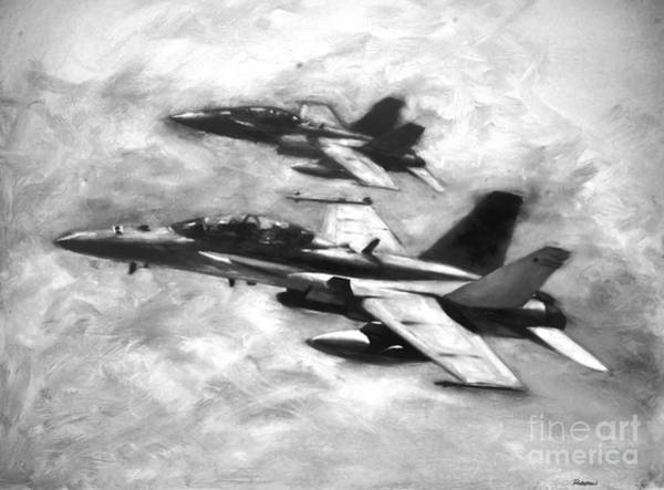 Marine Corps Painting - Hornets by Stephen Roberson