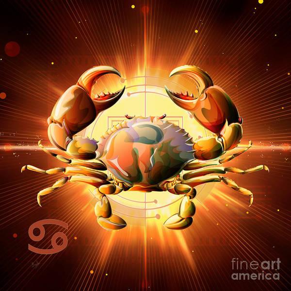Wall Art - Digital Art - Horoscope Signs-cancer by Peter Awax