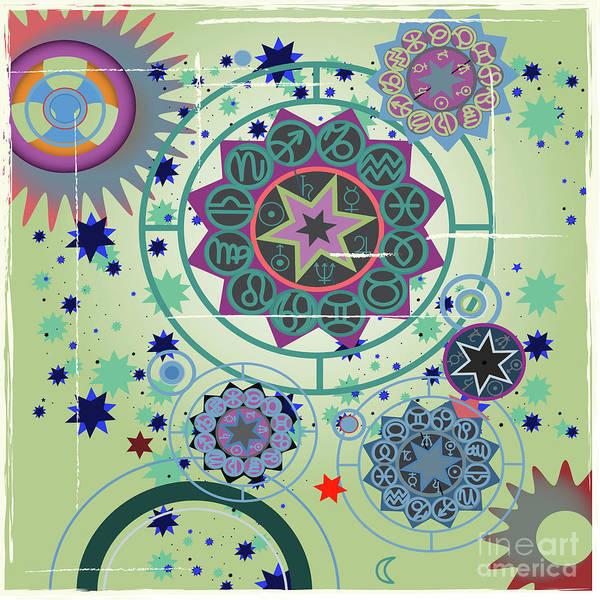 Drawing - Horoscope  University by Ariadna De Raadt