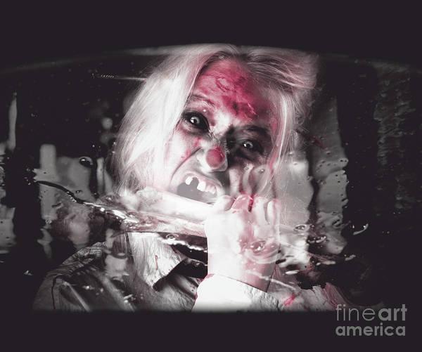 Thru Photograph - Horror Fast Food. Drive Thru Zombie Apocalypse by Jorgo Photography - Wall Art Gallery