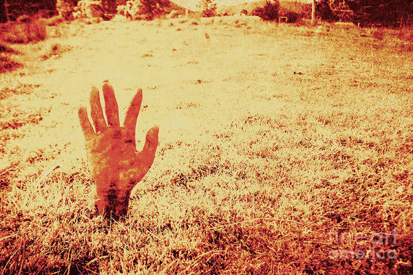 Evil Photograph - Horror Hand Of A Zombie Awakening by Jorgo Photography - Wall Art Gallery