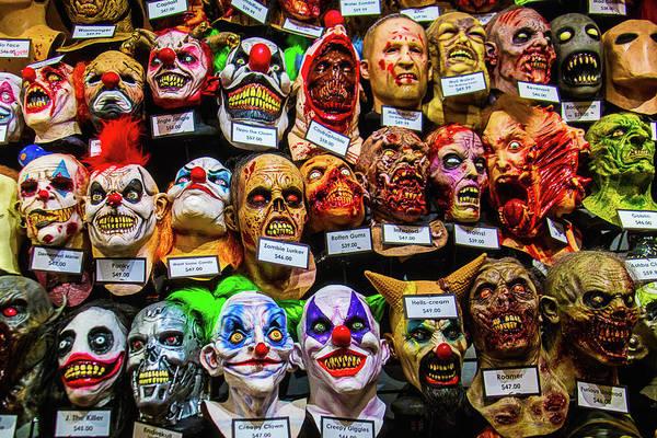 Wall Art - Photograph - Horror Masks by Garry Gay