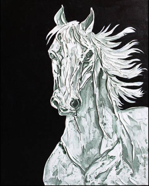 Exploring Mixed Media - Horse 01 by Debabrata Biswas