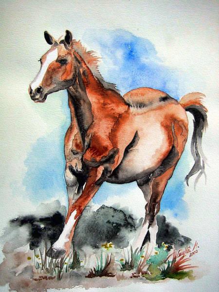Wall Art - Painting - Horse #2 by Leyla Munteanu