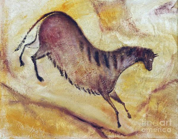 Primeval Painting - Horse A La Altamira by Michal Boubin