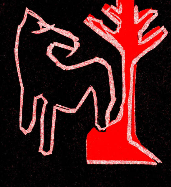 Digital Art - Horse And A Tree by Artist Dot