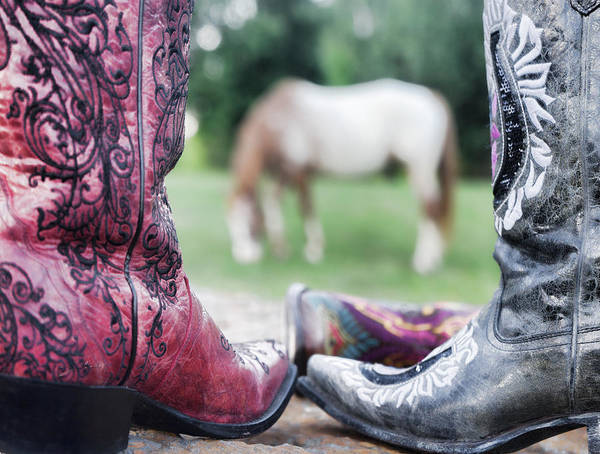 Photograph - Horse And Boots by Sharon Popek