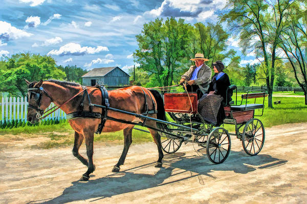 Painting - Horse And Buggy At Old World Wisconsin by Christopher Arndt