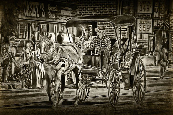 Photograph - Horse And Buggy by Randall Nyhof
