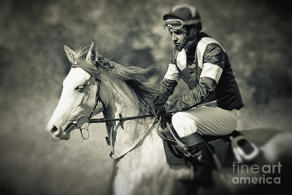 Horse And Jockey Art Print