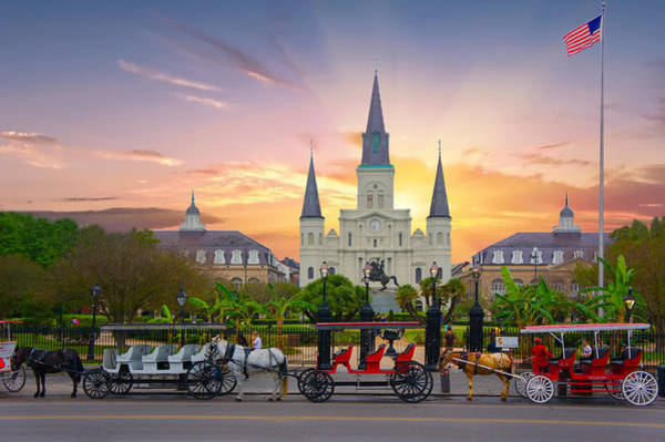 Wall Art - Photograph - Horse Carriage At Jackson Square by Art Spectrum