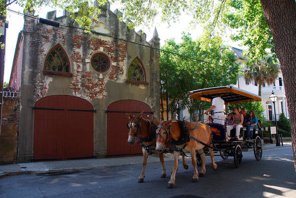Photograph - Horse Carriage At Kings Street by Susanne Van Hulst