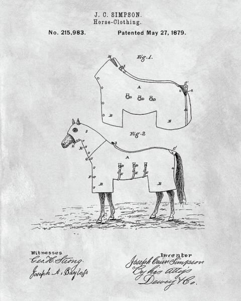 Wall Art - Drawing - Horse Coat Patent by Dan Sproul