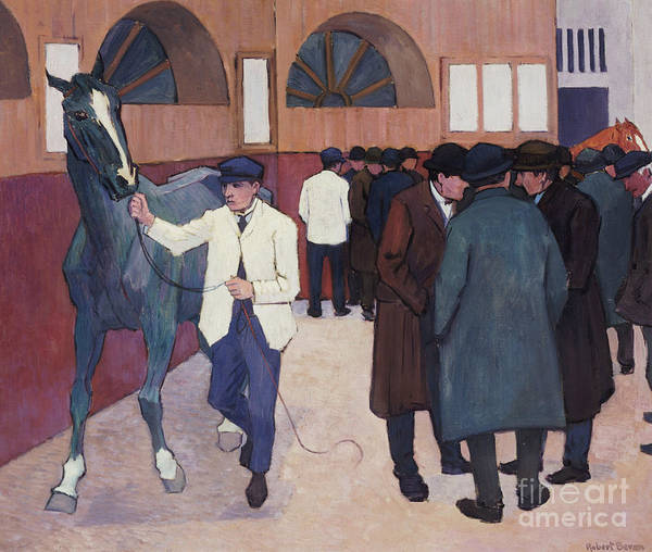 Wall Art - Painting - Horse Dealers At The Barbican, 1918 by Robert Polhill Bevan
