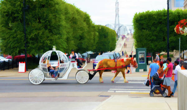 Honky Tonk Photograph - Horse Drawn Carriage And Riders, Nashville, Tn by Art Spectrum