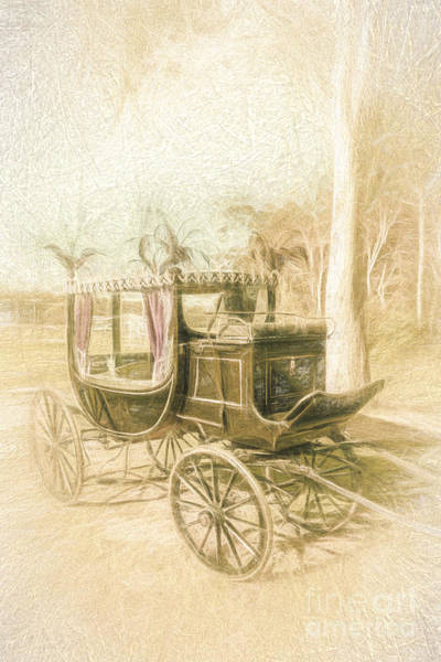 Horse Drawn Funeral Cart  Art Print
