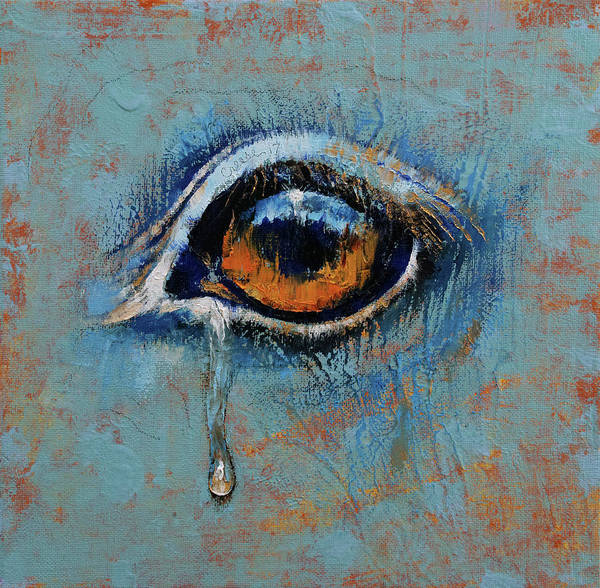 Wall Art - Painting - Horse Eye by Michael Creese