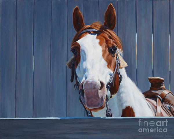 Painting - Horse Fence by JQ Licensing