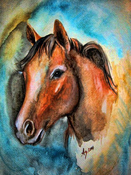 Wall Art - Painting - Horse Head #13 by Leyla Munteanu