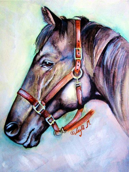 Wall Art - Painting - Horse Head #15 by Leyla Munteanu