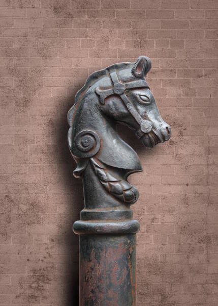 Photograph - Horse Head Hitching Post by Debi Dalio